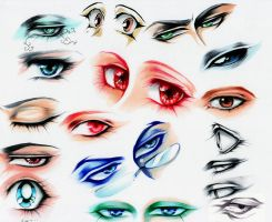 Manga Eye Study 2 by Giname