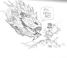 01172015 Smaug vs scrooge by guinnessyde