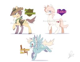 Pony Adopts: Batch 2 (AUCTION OVER) by BentoStars