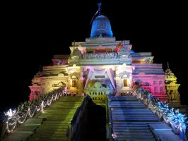 Dharmachakra Tirth Main Temple Light Effect 1 by sds49in