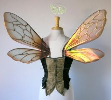Bee Wings Copper Back by FaeryAzarelle
