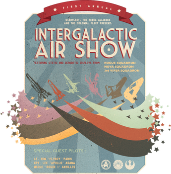 Intergalactic Air Show by xue-ying