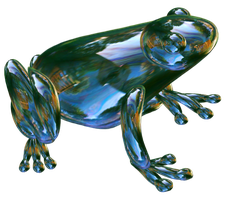 Cute glassed frog. by Vrezt
