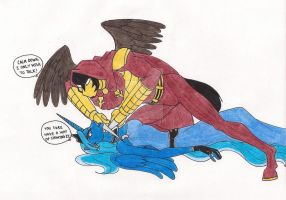 A Discussion with Azrael by 13foxywolf666