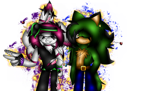  \:.~{ The Rabbit and The Hedgewolf }~.:/  by X-UnKnownRituals
