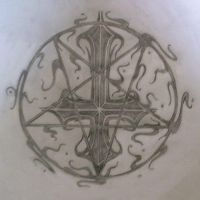 cross and pentagram by spooky6sic6