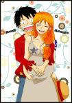 El bebe se movio?...Luffy x Nami fanart color by orange-star-destiny