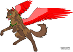 Winged Wolf Colouring by Bunni89
