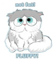not fat...FLUFFY. by P3dy