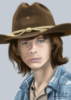 Carl Grimes by martianpictures