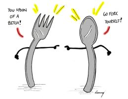 Utensil humor. Sporking of which.... by SunnyArts