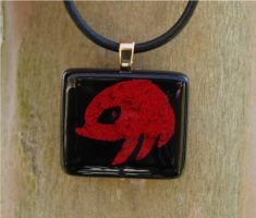 Knuckles Fused Glass Pendant by FusedElegance