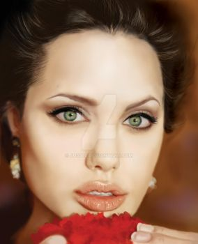 Angelina Jolie Portrait by JD3366