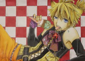 Trick or Treat ~ Len Kagamine by CelestialMaho