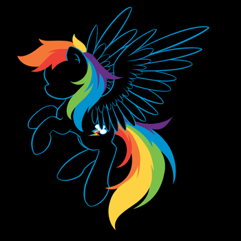 Colors of the rainbow (vectorized) by M-e-r-r-X