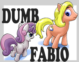 Dumb Fabio by Rocketknightgeek