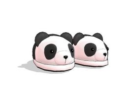MMD Panda Slippers DL by xXKyoko-chanXx