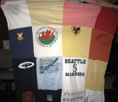T-Shirt Quilt by Elgaladwen