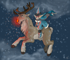 Rudolf and Herbie by Inkyness