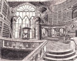 Canterlot library by josh-5410