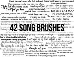 42 song brushes. by kingmccanns