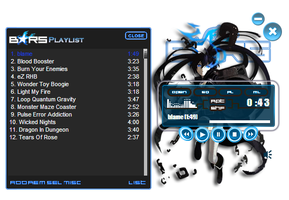 Black Rock Shooter Neon - Winamp Skin by 0x-Raven