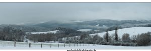 Panorama- winter in thuringia by Springstein