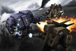 40k-Dreadnought fight - final by thevampiredio
