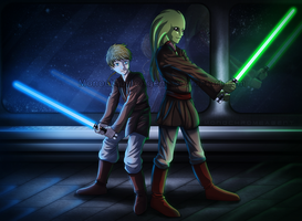 Master and Padawan by MonochromeAgent