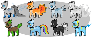 Themed Adoptables 01 by catdoq