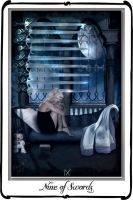 Tarot-Nine of swords by azurylipfe