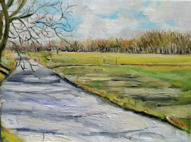 Almost spring oil painting by NancyvandenBoom