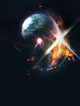 Space abstract explosion by Xt3-Design-Factory