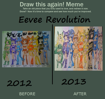 Draw This Again: Eevee Revolution by prettycure97