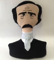 Stuffed Edgar Allan Poe Plush Bust Doll by Saint-Angel
