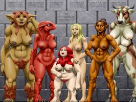 4E Monster Manual 1 PC Races by Malcolmd