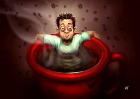 too much caffeine by Firnadi