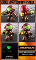 Custom Samus Aran Mighty Muggs by GDXToyz