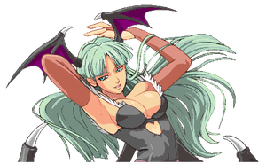 PROJECT X ZONE - MORRIGAN AENSLAND 3 by Diegoutetsuma