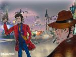 Lupin and Zenigata by Dorothy-of-Oz