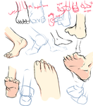 +Feet drawing tips+ by moni158
