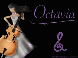 FiM: Human Octavia - Cartoon/realism wallpaper by DanteIncognito