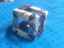 12 paper piece CUBE by soulmasterpisces