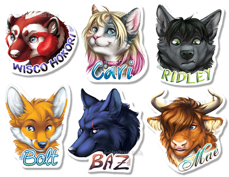 Spring 2017 Painted Badges - Batch 1 by GoldenDruid