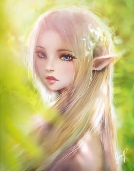 Forest Elf Under the Sunshine by Xhilia7