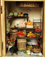 Vintage Small old Shop- Fruit and Vegetable by dollhouseara