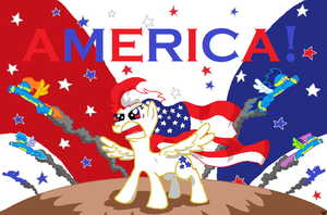 Star Spangler: The AMERICAN Pony by Sir-Croco