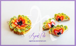 Polymer Clay Fruit Tart by AgentRose