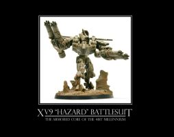 "XV9 ""Hazard"" Battlesuit by ChapterAquila92"