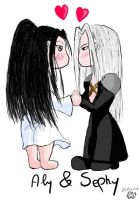 Sephiroth and Alyciane by Alyciane